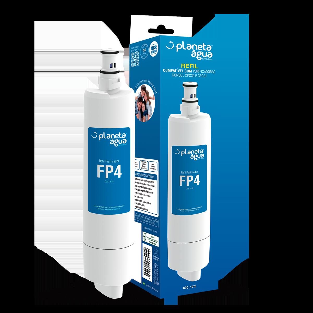Refil Purificador FP4 1078 - Compatível: Consul CPC31, CPC31AB, CPC31AF, CPC30AB, CPC30AF, CPB35AB.