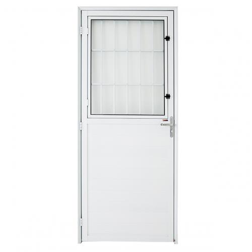 Porta Postigo Branca Direita Boldie 0,88m x 2.15m - Prado Esquadrias