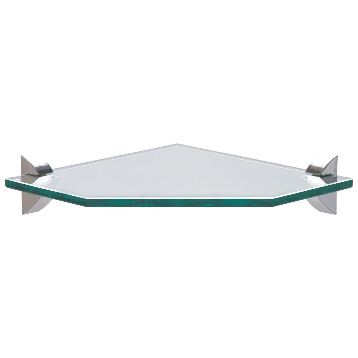 Prateleira de Vidro Glass Canto Quadra  91221003 300 X 300 X 8 - Tramontina
