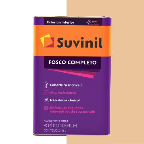 Tinta Acrílica Fosco Completo Mel 18 L - Suvinil
