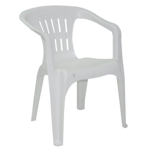 Cadeira Atalaia Basic com Braços em Polipropileno Branco 92210/010 - Tramontina