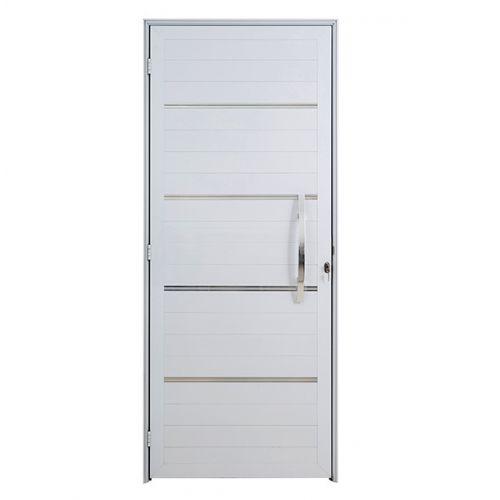 Porta Lambri com Puxador e Friso Direita Boldie 1.00m x 2.15m  - Prado Esquadrias