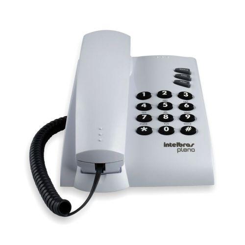 Telefone com Fio Pleno Cinza Ártico - Intelbras